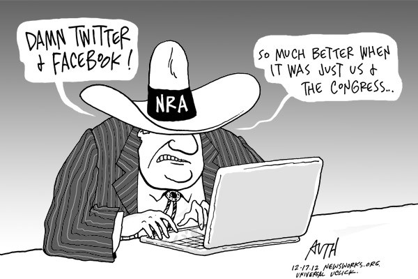 NRA Twitter Cartoon